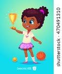 cute girl. back to school... | Shutterstock .eps vector #470491310