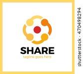 simple minimalist logotype.... | Shutterstock .eps vector #470498294