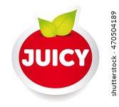 juicy food label vector   Shutterstock .eps vector #470504189