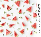 Watermelon Pieces Pattern On...