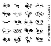 emotions. set of doodle faces.... | Shutterstock .eps vector #470513816