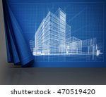 abstract architecture  3d... | Shutterstock . vector #470519420