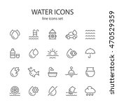 water icons | Shutterstock .eps vector #470529359