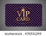 elegant dark vip card vector... | Shutterstock .eps vector #470531399