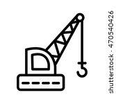 crane line icon | Shutterstock .eps vector #470540426