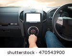 driver hand control a gear.    Shutterstock . vector #470543900