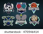 colorful sport logo  labels ... | Shutterstock .eps vector #470546414