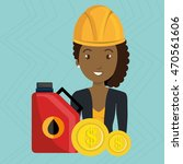 woman gasoline station vector...   Shutterstock .eps vector #470561606