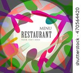 restaurant menu vector design | Shutterstock .eps vector #470564420