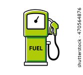 green gasoline fuel pump icon... | Shutterstock .eps vector #470564876