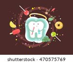 tooth abstract design flat | Shutterstock .eps vector #470575769
