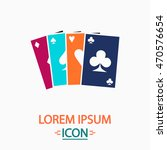 poker cards color icon on white ...