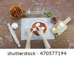 making pizza. | Shutterstock . vector #470577194
