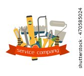 set of flat construction tools... | Shutterstock .eps vector #470585024