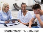 young couple with financial... | Shutterstock . vector #470587850