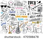 music instruments set. hand... | Shutterstock . vector #470588678