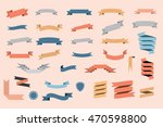 ribbons. set of ribbons and...   Shutterstock .eps vector #470598800