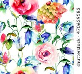 seamless pattern with colorful... | Shutterstock . vector #470629583