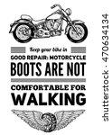 motorcycle quote for garage ...   Shutterstock .eps vector #470634134