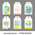 collection of modern hang tags... | Shutterstock .eps vector #470634650