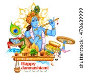 illustration of lord krishana... | Shutterstock .eps vector #470639999