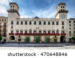Facade Of The Alicante Town...