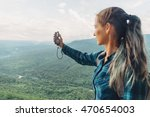 traveler young woman searching... | Shutterstock . vector #470654003