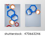 front and back dynamic flyer... | Shutterstock .eps vector #470663246