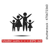 family vector icon | Shutterstock .eps vector #470672360
