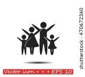 family vector icon | Shutterstock .eps vector #470672360
