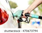refuel car with petrol | Shutterstock . vector #470673794