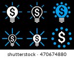 financial idea bulb vector... | Shutterstock .eps vector #470674880