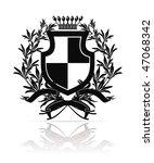black coat of arms  vector | Shutterstock .eps vector #47068342
