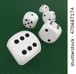 5 classic white dices. 3d... | Shutterstock . vector #470687174