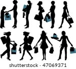 shopping people. all elements... | Shutterstock .eps vector #47069371