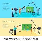 filmmaking movie scene shooting ... | Shutterstock .eps vector #470701508