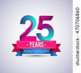 25 years anniversary logo  blue ... | Shutterstock .eps vector #470706860