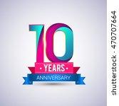 10 years anniversary logo  blue ... | Shutterstock .eps vector #470707664