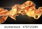 gold cloth abstract 3d... | Shutterstock . vector #470715284