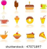 food icons set. vector... | Shutterstock .eps vector #47071897