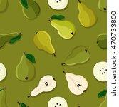 green pears   vector background | Shutterstock .eps vector #470733800