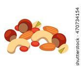 heap from various kinds of nuts.... | Shutterstock .eps vector #470734154