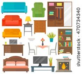furniture and home decor icon... | Shutterstock .eps vector #470734340