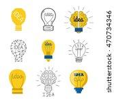 drawing idea light bulb concept ... | Shutterstock .eps vector #470734346