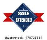 sale extended label with ribbon ... | Shutterstock .eps vector #470735864
