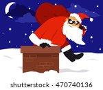 a thief in a santa costume...