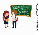 back to school and children... | Shutterstock .eps vector #470743754