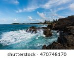 waves crashing into the... | Shutterstock . vector #470748170