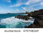 waves crashing into the... | Shutterstock . vector #470748269
