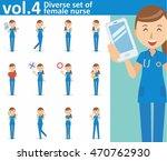 diverse set of female nurse on...   Shutterstock .eps vector #470762930